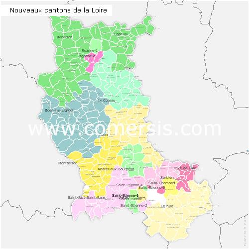 Ajouter au panier nouveaux cantons de la Loire 2015 pour Word et Excel