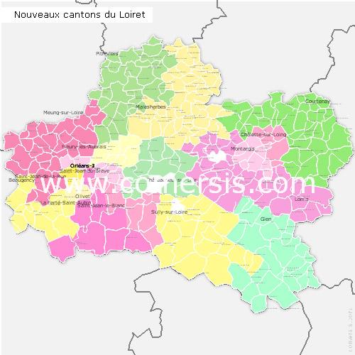 Ajouter au panier nouveaux cantons du Loiret 2015 pour Word et Excel