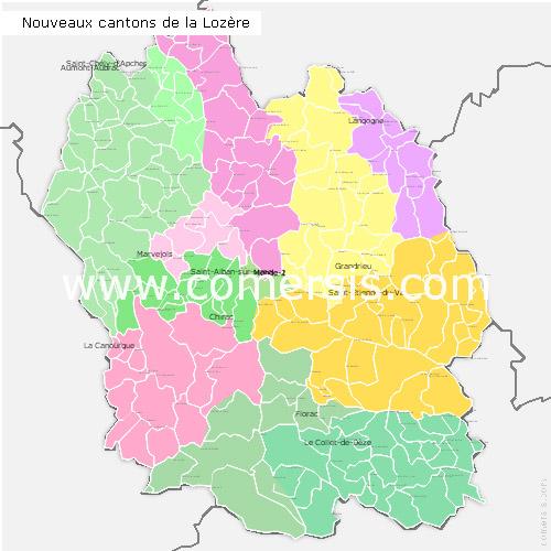Ajouter au panier nouveaux cantons de la Lozère 2015 pour Word et Excel
