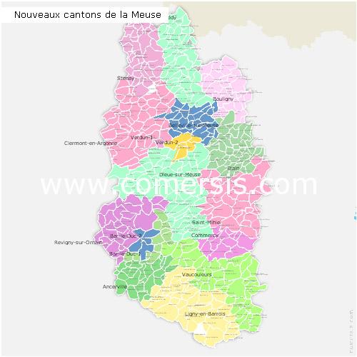 nouveaux cantons de la Meuse 2015 pour Word et Excel