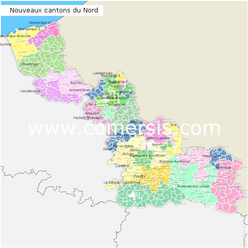 Ajouter au panier nouveaux cantons du Nord 2015 pour Word et Excel