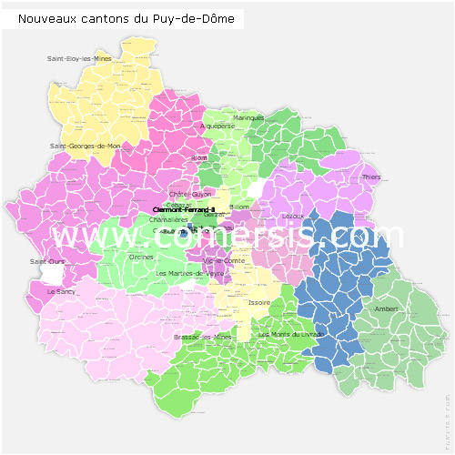 Cartes puy de d me for Code postal boulay moselle