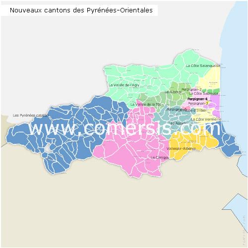 Ajouter au panier nouveaux cantons des Pyrénées-Orientales 2015 pour Word et Excel