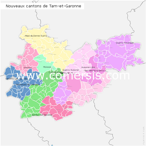 Télécharger € 24.90 des nouveaux cantons de  Tarn-et-Garonne 2014 pour Word et Excel.
