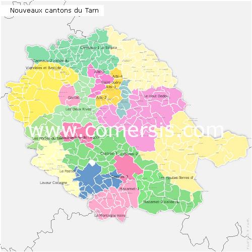 Télécharger € 24.90 des nouveaux cantons du  Tarn 2014 pour Word et Excel.