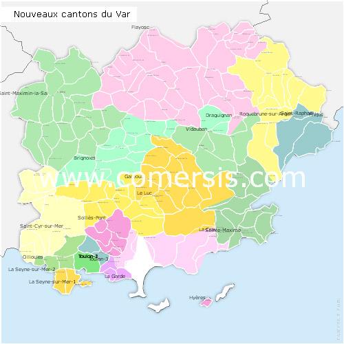 Ajouter au panier nouveaux cantons du Var 2015 pour Word et Excel