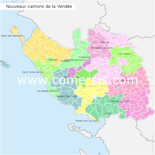 Map Of France Vendee.Maps Of Vendee