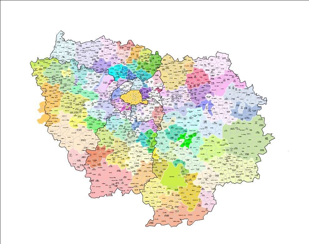 Carte et liste des intercommunalit s d 39 le de france for Liste communes oise