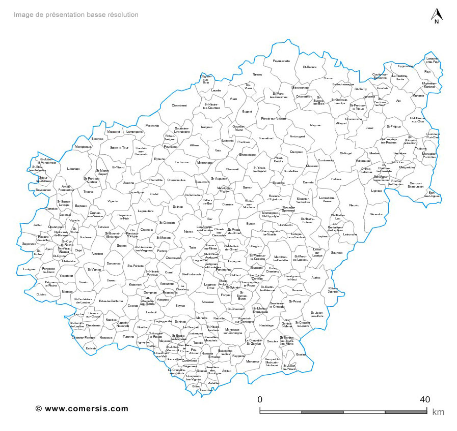 communes de la Corrèze - 19