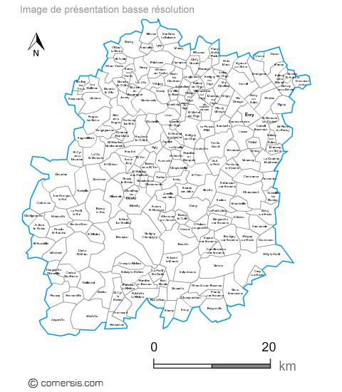 carte des communes de l'Essonne