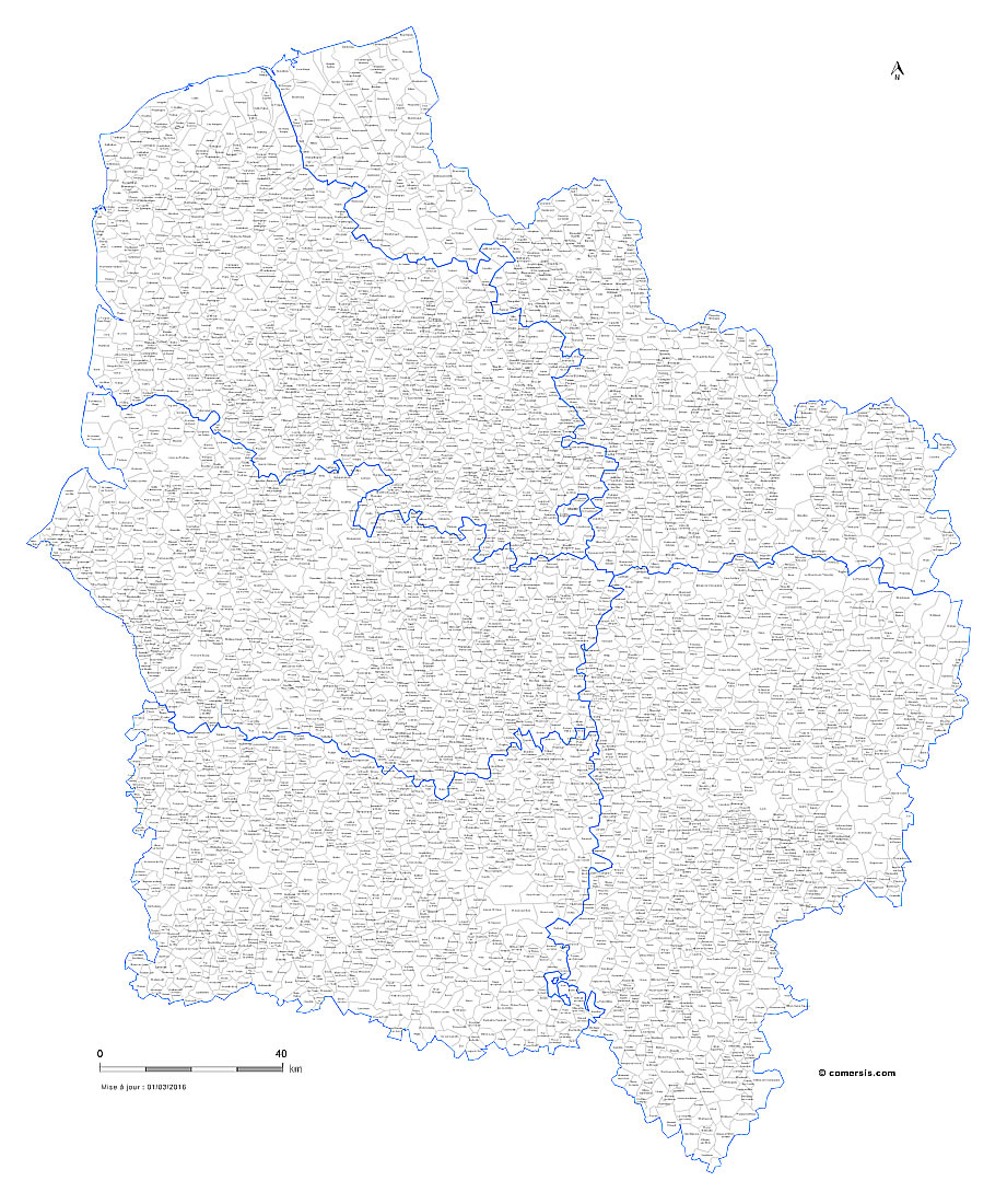 Carte des communes des Hauts-de-France