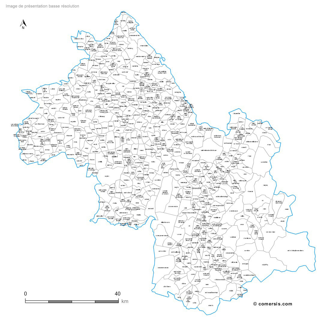 carte des communes de l'Is�re