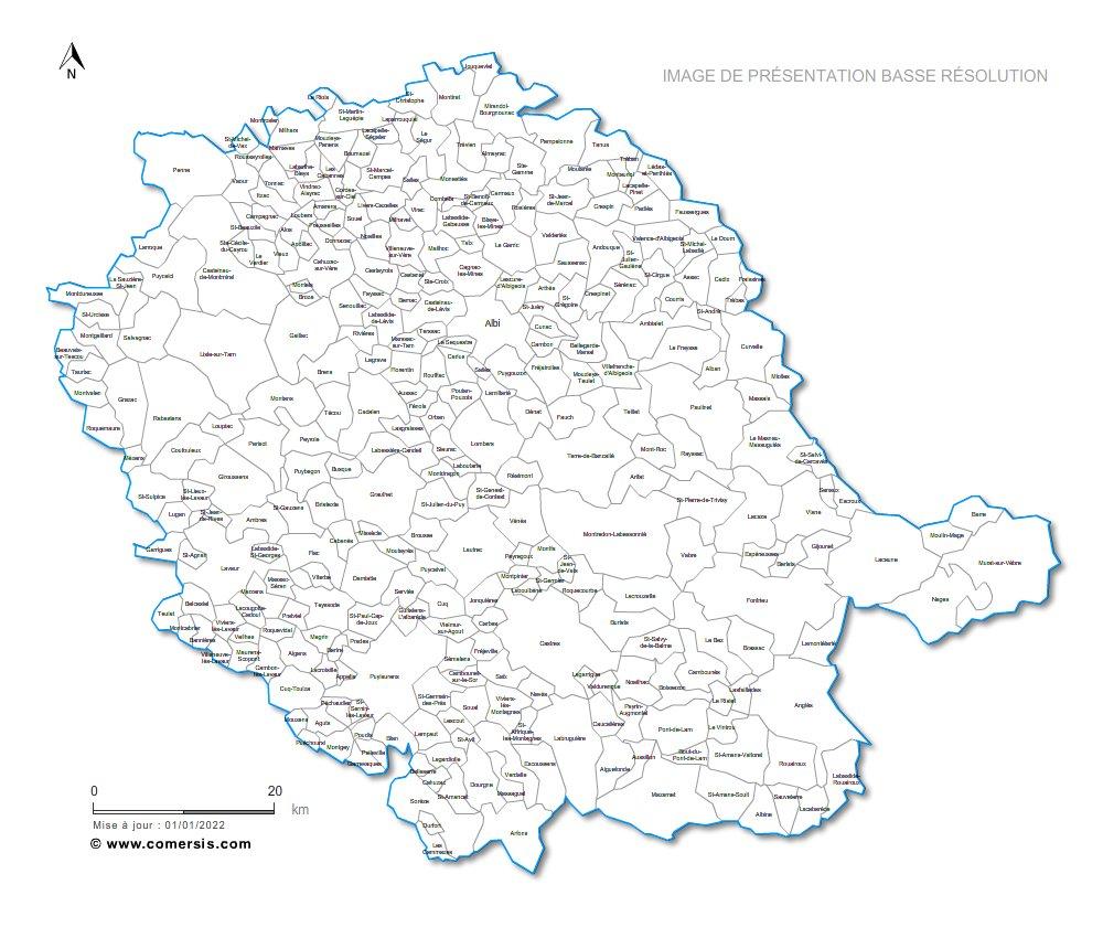 Télécharger € 29.90 communes du  Tarn - 81.