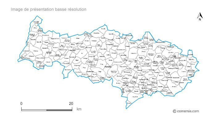 Carte personnalisable des villes et communes du val d 39 oise - Chambre des notaires val d oise ...