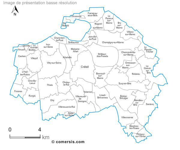 Carte personnalisable des villes et communes du val de marne for Conforama val de marne