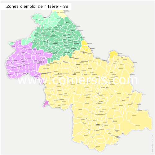 Zones d'emploi de l'Is�re