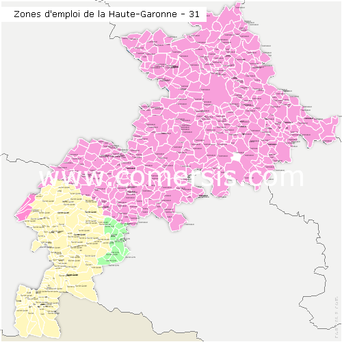 Zones d'emploi de la Haute-Garonne
