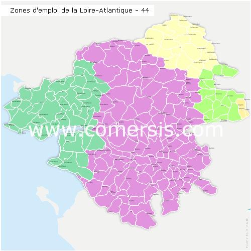 Zones d'emploi de la Loire-Atlantique