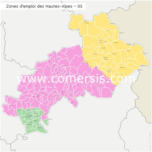 Zones d'emploi des Hautes-Alpes
