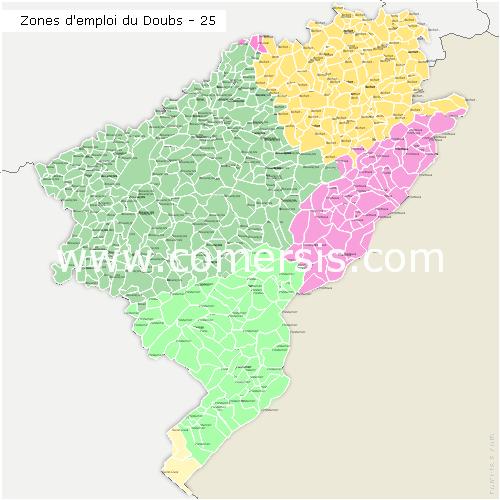 Zones d'emploi du Doubs