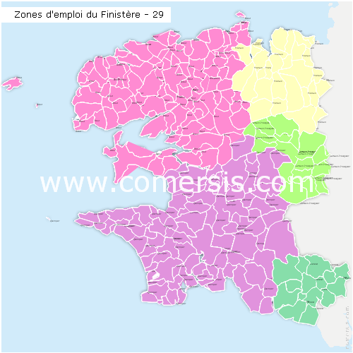 Zones d'emploi du Finist�re