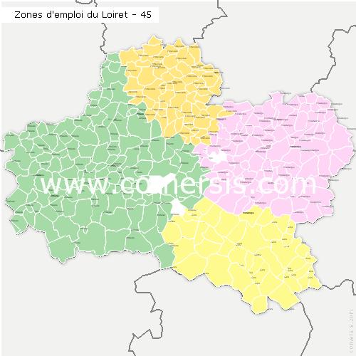 Zones d'emploi du Loiret