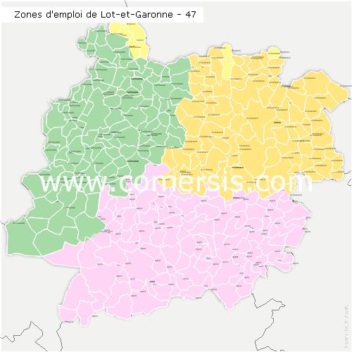 Zones d'emploi du Lot-et-Garonne