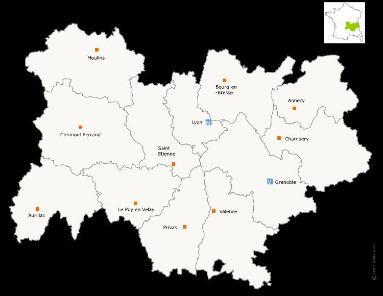 Fusion région Auvergne et Rhone-Alpes