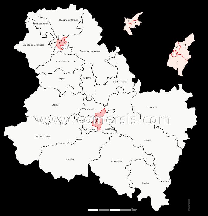 Carte des nouveaux cantons du Var