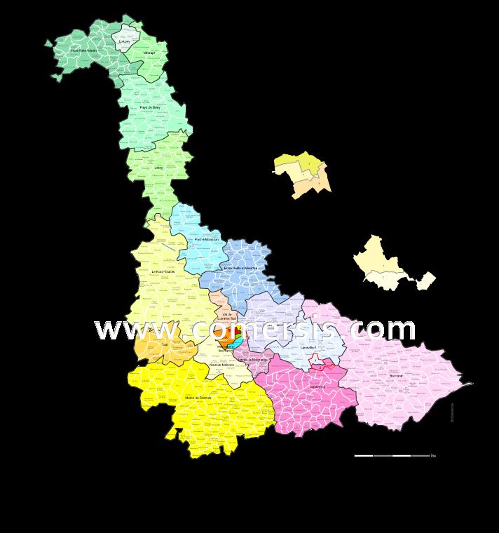 Communes et cantons 2018 de Meurthe-et-Moselle