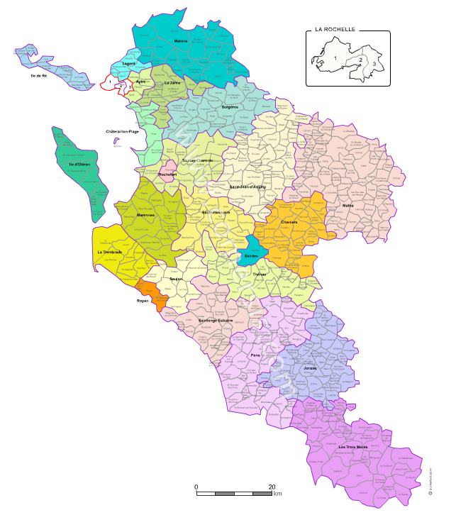 carte charente maritime communes Carte des nouveaux cantons de la Charente Maritime avec villes et