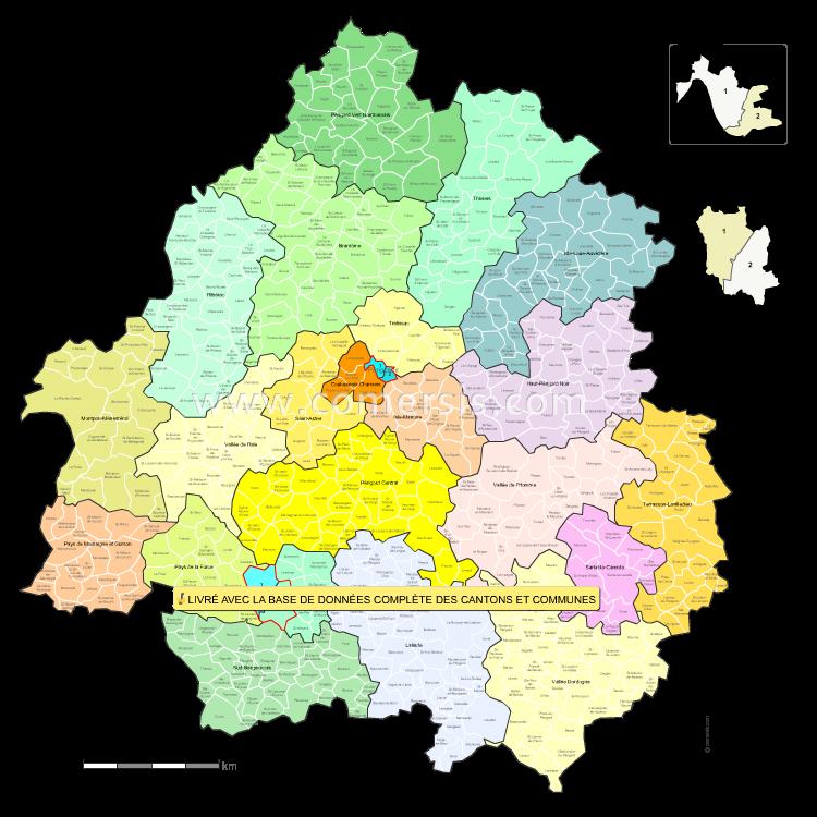 Ajouter au panier nouveaux cantons de la  Dordogne pour Word et Excel.