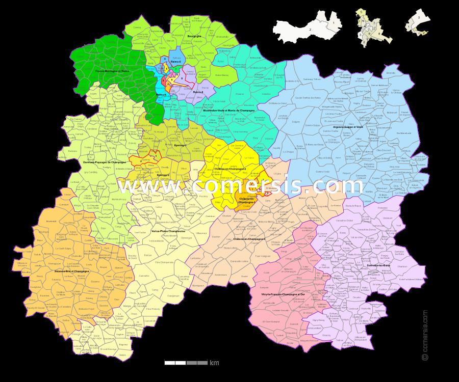 Carte Des Nouveaux Cantons De La Marne Avec Villes Et Communes