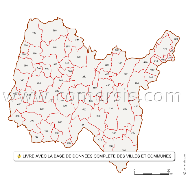 Carte des codes postaux de l 39 ain for Code postal piolenc
