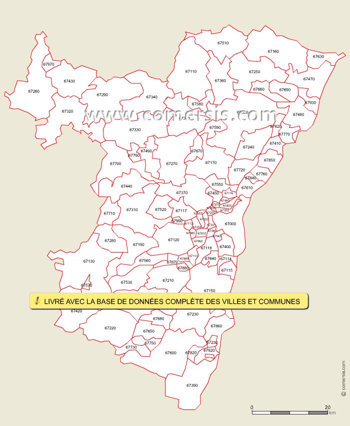 carte administrative 67 - Image
