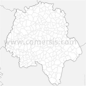 Carte SVG des communes d'Indre-et-Loire automatique