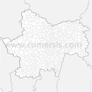 Carte SVG des communes de Saône-et-Loire automatique
