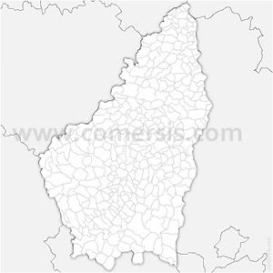 Carte SVG des communes de l'Ardèche automatique