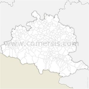 Carte SVG des communes de l'Ariège automatique