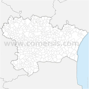 Carte SVG des communes de l'Aude automatique