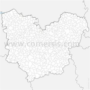 Carte SVG des communes de l'Eure automatique