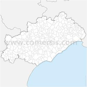 Carte SVG des communes de l'Hérault automatique