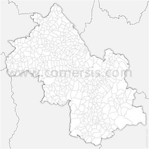 Carte SVG des communes de l'Isère automatique