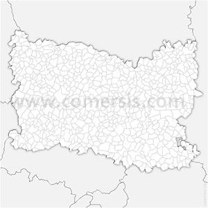 Carte SVG des communes de l'Oise automatique