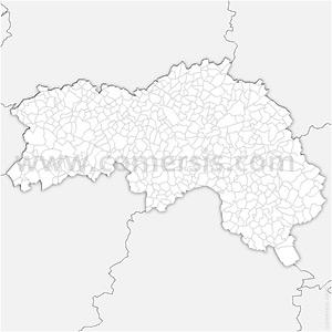 Carte SVG des communes de l'Orne automatique