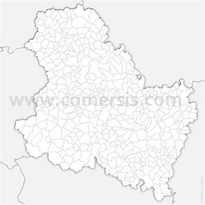 Carte SVG des communes de l'Yonne automatique