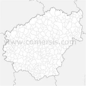 Carte SVG des communes de la Corrèze automatique