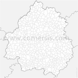 Carte SVG des communes de la Dordogne automatique
