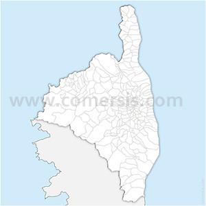 Carte SVG des communes de la Haute-Corse automatique