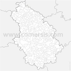 Carte SVG des communes de la Haute-Marne automatique